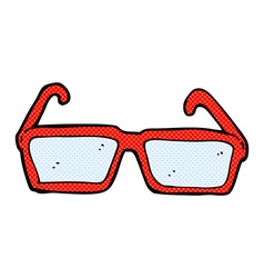 Comic cartoon spectacles vector
