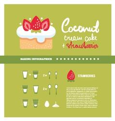 Cream cake cooking inforgaphics vector
