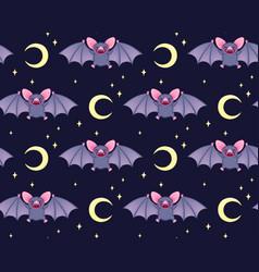 cute bats pattern vector image