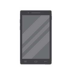 Dark smartphone in flat style isolated on a white vector