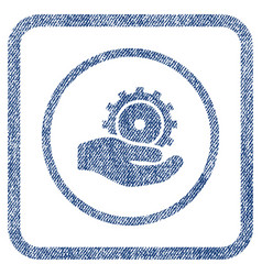 development service fabric textured icon vector image