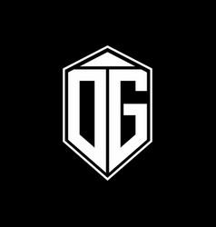 dg logo monogram with emblem shape combination vector image