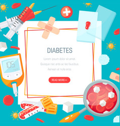 Diabetes concept in flat style design vector