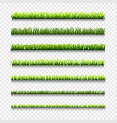 different types green grass borders vector image