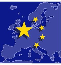 Euro China vector image