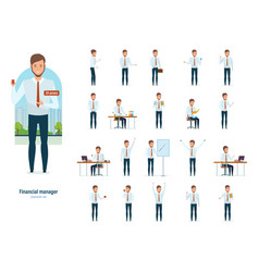 financial manager in strict work clothes vector image