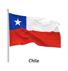 flag republic chile vector image