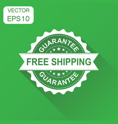 free shipping rubber stamp icon business concept vector image