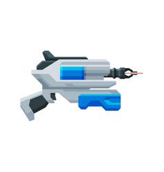 Futuristic space laser gun blaster fantastic vector