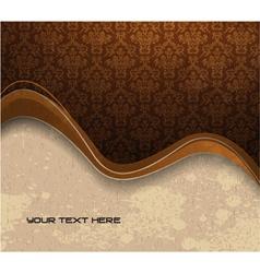 grunge damask wallpaper vector image