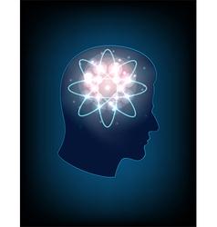 Head of the human mind vector