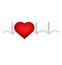 Health a heart cardiogram vector