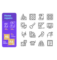 Home repairs icons set vector