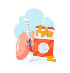 human lungs icon in flat style vector image