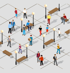 isometric people lifestyle vector image