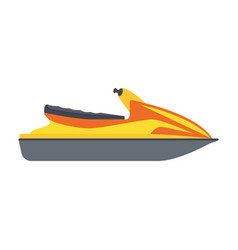 jet ski isolated on white background vector image