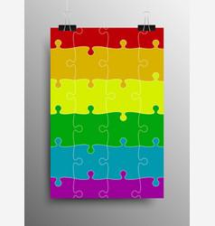 lgbt pride flag rainbow symbol vector image