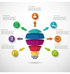 Light bulb infographic vector image