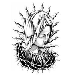 Maria tattoo art vector