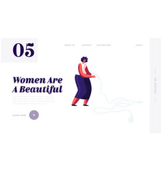 Modern lady accessory website landing page tiny vector