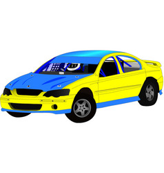Modified sedan speedway car vector