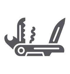 Multi tool glyph icon camping and multifunction vector