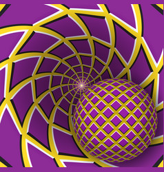 optical a ball is moving on rotating vector image