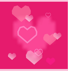 pink hearts background valentines day romantic vector image