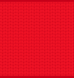 red seamless pattern with interweaving braids vector image