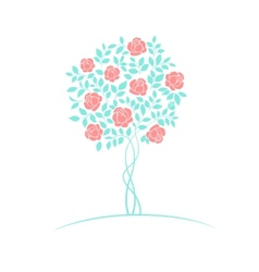 Rose tree logo vector image