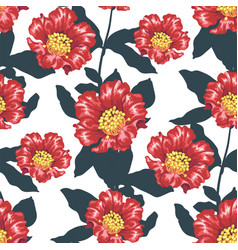 seamless patternwith bright pomegranate blooming vector image