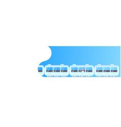 senior businessman sitting subway train car vector image
