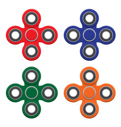 Set of spinner new popular anti-stress toy vector