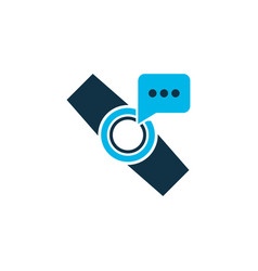 smart watch notification icon colored symbol vector image