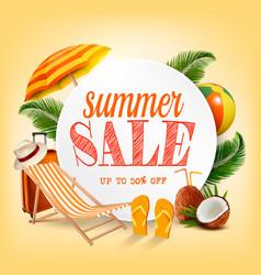 Summer sale tmplate banner vector