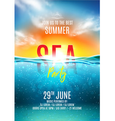 Summer sea party poster vector