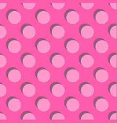 Tile pattern big pink polka dots with shadow vector
