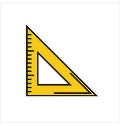 Triangle ruler icon on white background vector