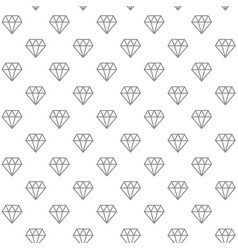 unique digital diamonds seamless pattern with vector image