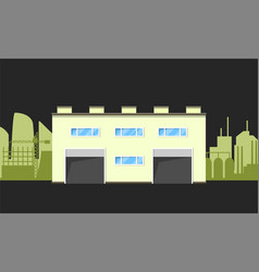 warehouse logistics building vector image