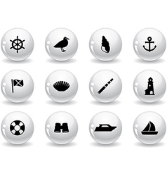 Web buttons seaside icons vector