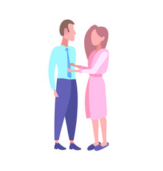 woman in bathrobe seeing off businessman in the vector image