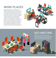 business banners design with isometric vector image vector image
