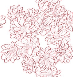 flowers bouquet pattern vector image vector image