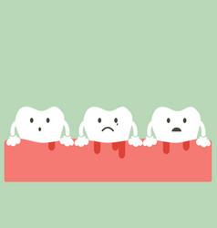 gingivitis and bleeding vector image