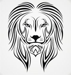 Lion Head Tribal vector image vector image