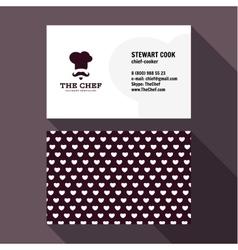 Qualitative elegant Business Card chef logo vector image
