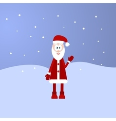 Retro styled Christmas Card with Santa Claus vector image