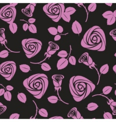 seamless floral rose vector background vector image vector image
