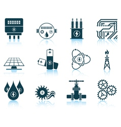 Set of energy icons vector image vector image
